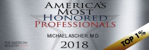 Psychiatrist in Philadelphia - America's Most Honored Professionals 2018